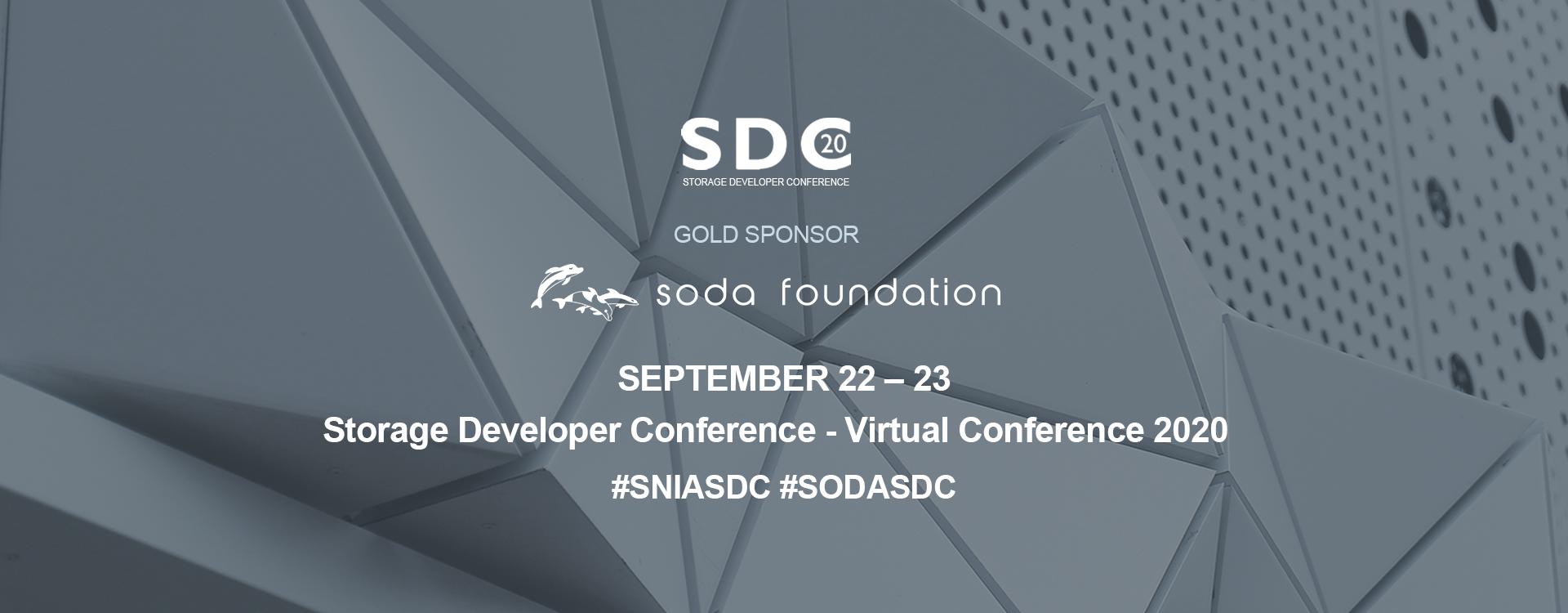 Storage Developer Conference Virtual Conference 2020